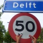 Delft plaatsnaambord