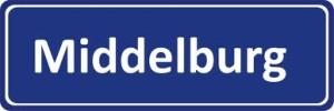 Middelburg plaatsnaambord